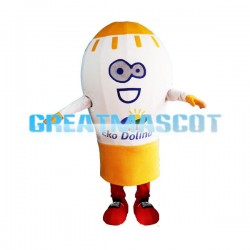 Giant Light Bulb Cartoon Mascot Adult Costume