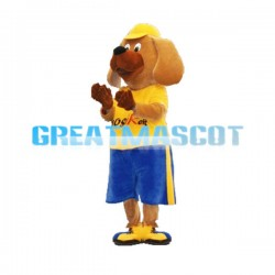 Adult Size Brown Dog Mascot Animal Fancy Dress Costume