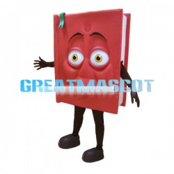 Adult Size Red Book Cartoon Mascot Costume
