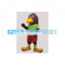 Adult Plush Brown Eagle Mascot Animal Fancy Dress Costume