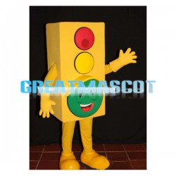 Adult Size Cartoon Traffic Signal Board Lightweight Mascot Costume