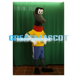 Black Long-billed Bird Mascot Adult Costume