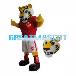 Ferocious Muscle Tiger Mascot Adult Costume