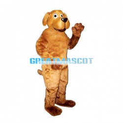 Adult Plush Brown Dog Mascot Costume