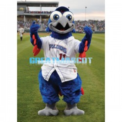 Blue Eagle With Big Eyes Mascot Costume