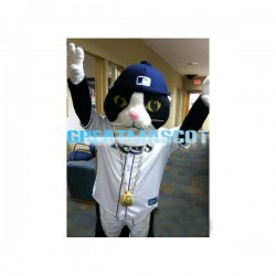 DJ Kitty Mascot Adult Costume