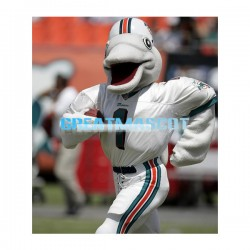 New Custom Made Grey Dolphin In Baseball Uniform Mascot Adult Costume
