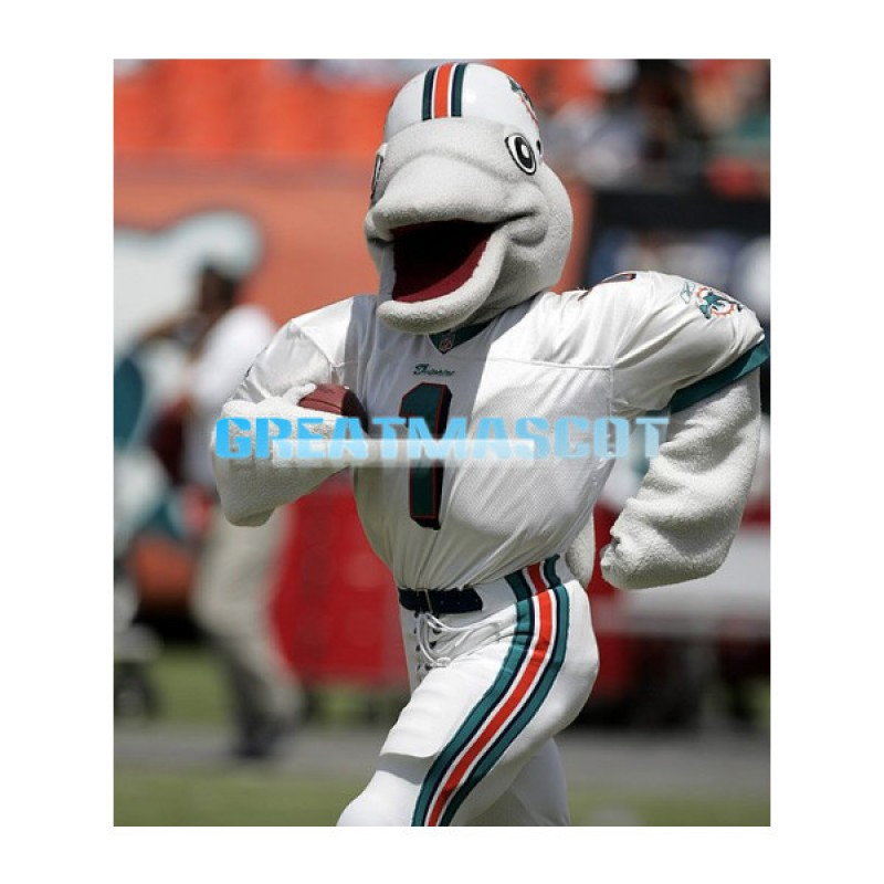 T.D. the Dolphin Mascot Adult Costume
