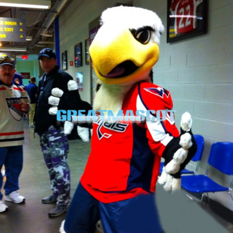 Slapshot the Large Bald Eagle Mascot Adult Costume