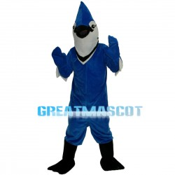 Adult Pointed Blue Bird Mascot Costume