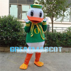 Donald Duck With Green Suit Mascot Costume
