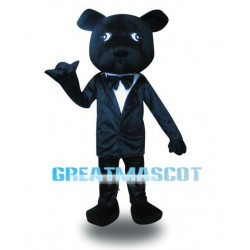 Gentleman Black Bear Mascot Costume