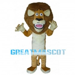 Surprised Brown Lion Mascot Costume