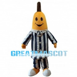 Banana With Striped Set Mascot Costume
