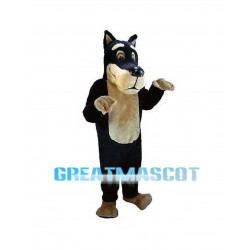 Honest Black Wolf Mascot Costume