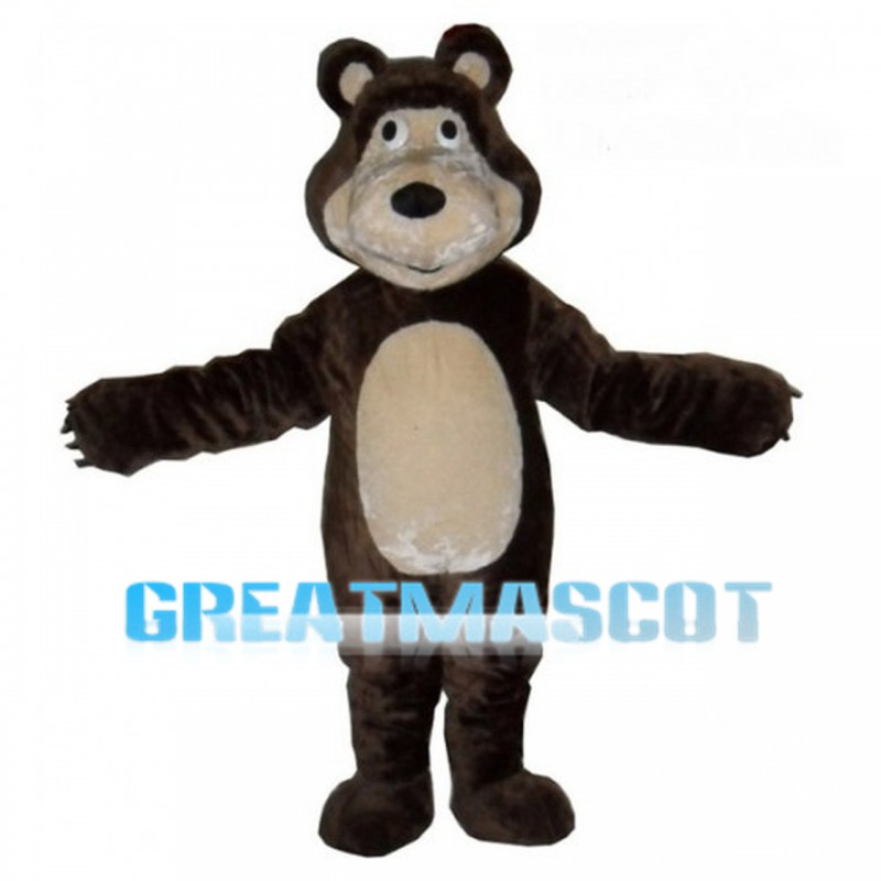 Adult Size Brown Bear Mascot Costume