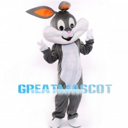 Large Grey & White Rabbit Mascot Costume