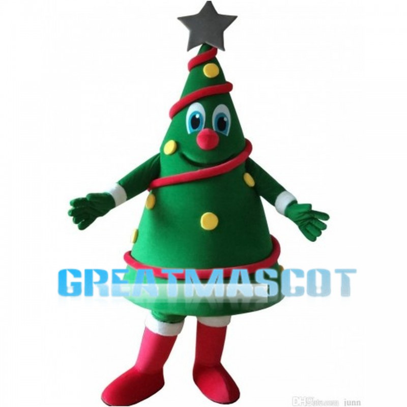 Christmas Tree With Lantern Mascot Costume