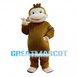Fat Brown Monkey Mascot Costume
