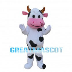 Naughty Cow With Tongue Out Mascot Costume