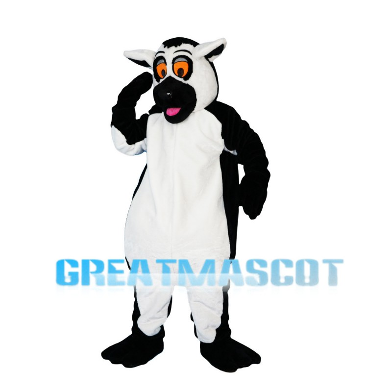 Black & White Cattle With Orange Eyes Mascot Costume