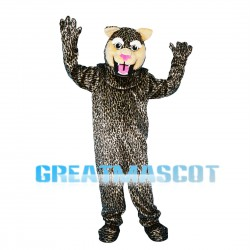 Agile Leopard With Pink Nose Mascot Costume