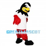 Unpleasant Eagle With Red Wings Mascot Costume