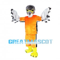Athlete Eagle In Orange Set Mascot Costume