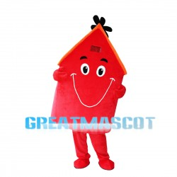 Red Windmill House Mascot Costume