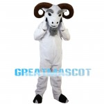 Old Ram With Curved Horns Mascot Costume