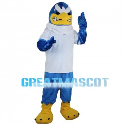 Irritable Blue Eagle Mascot Costume