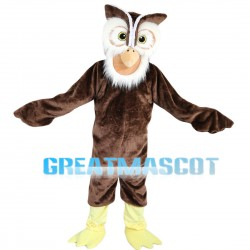 Nocturnal Brown Owl Mascot Costume