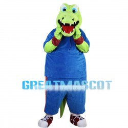 Sporty Crocodile With Sportswear Mascot Costume