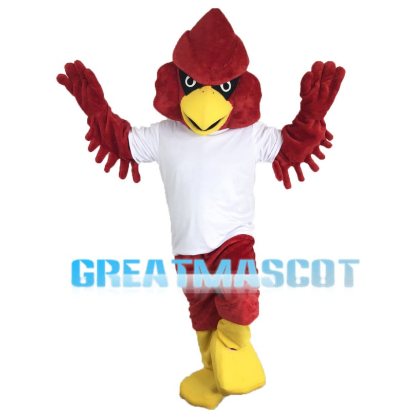 Pointed Red Eagle Mascot Costume