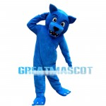 Blue Wolf Mascot Costume For Activity