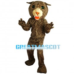 Green Eyes Yellow Leopard Mascot Costume