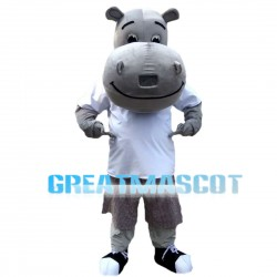 Casual Pleasant Hippo Mascot Costume