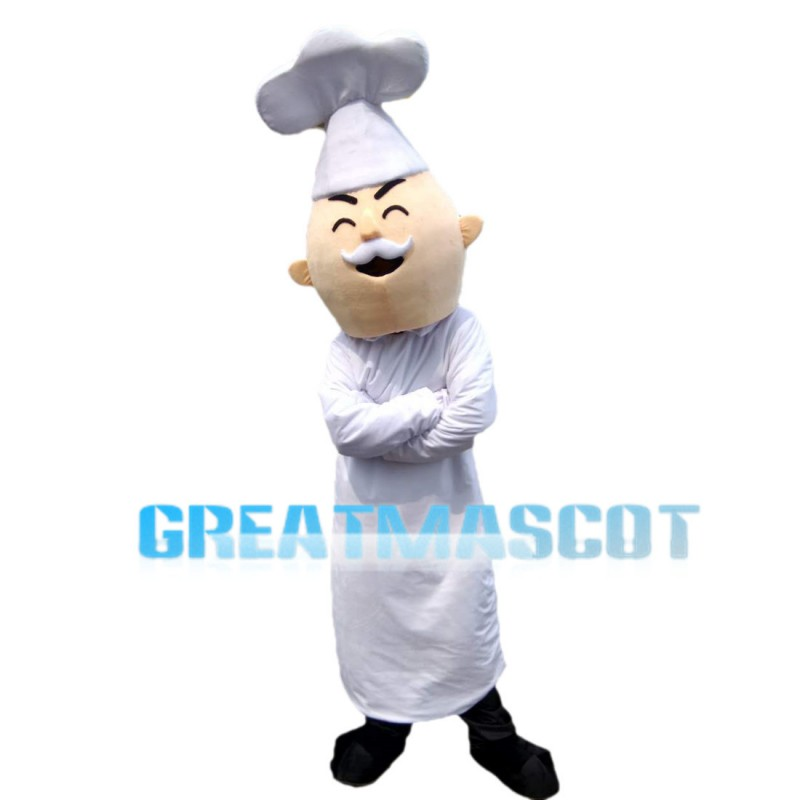 Experienced Old Chef Mascot Costume