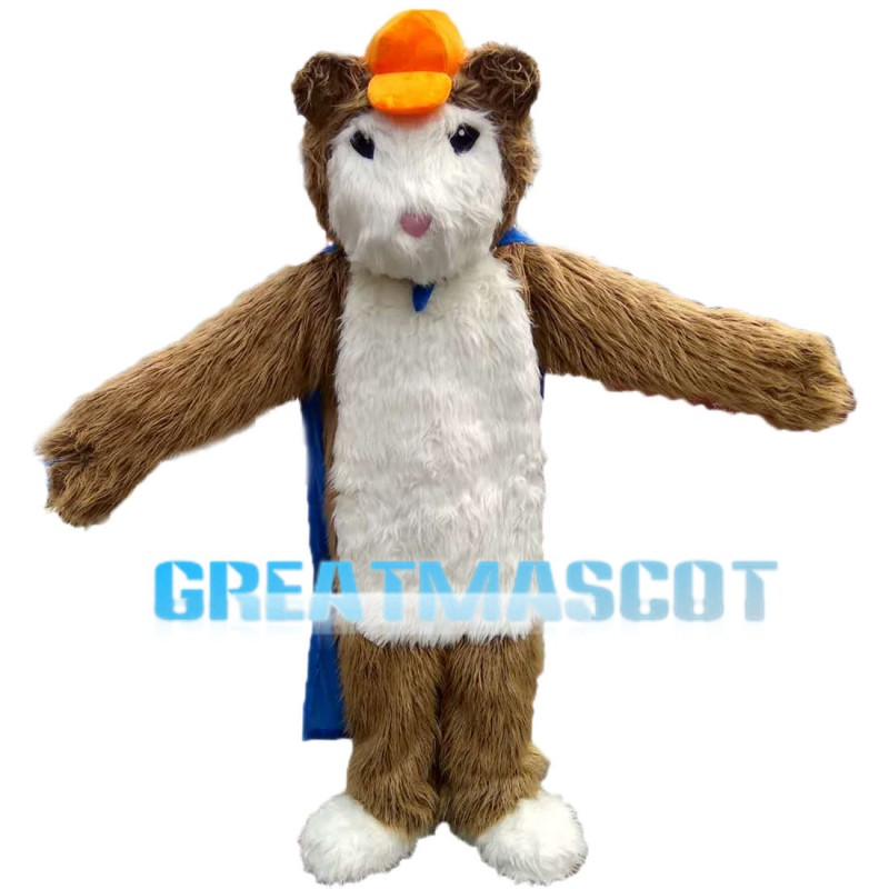 Mole With Orange Cap Mascot Costume