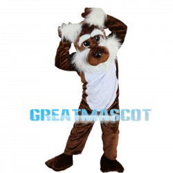 Brown Dog With Furry Ears Mascot Costume