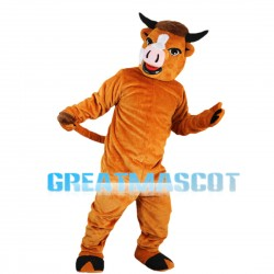 Hard Working Cattle Mascot Costume