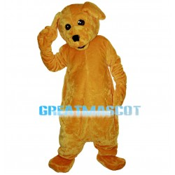 Polite Furry Brown Dog Mascot Costume