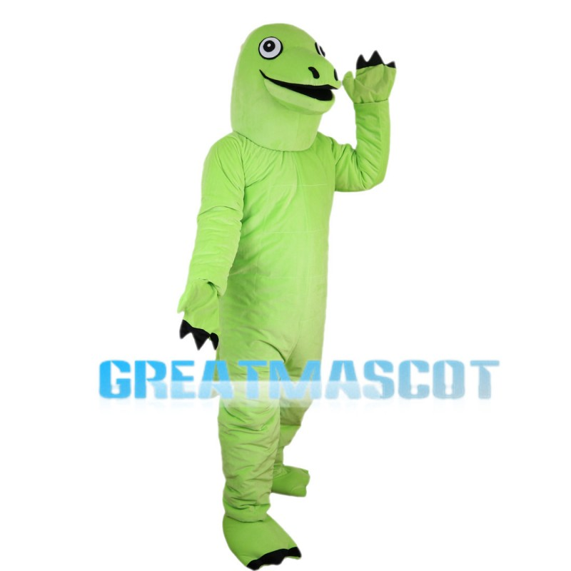 Long Neck Green Dinosaur Mascot Costume