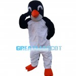 Big Penguin Covering Eyes Mascot Costume