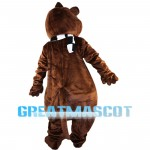 Lovely Raccoon With Green Goggle Mascot Costume
