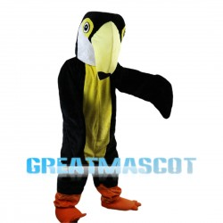 Woodpecker With Yellow Pointed Beak Mascot Costume