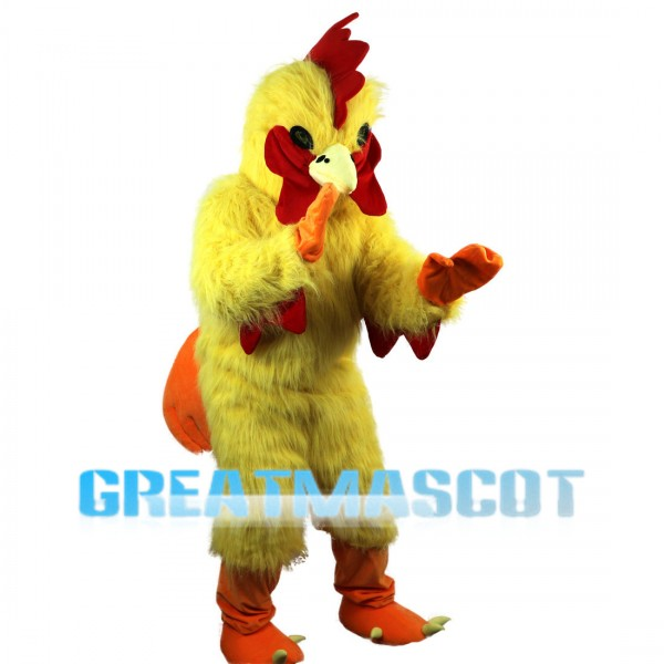 Plush Chicken With Red Crest Mascot Costume