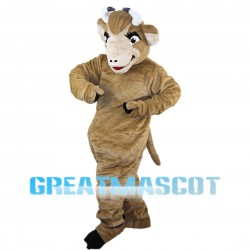 Adult Light Brown Cattle Mascot Costume
