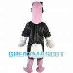 Black Ostrich With Pink Head Mascot Costume