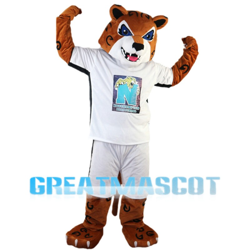 Energetic Tiger Mascot Costume For High School